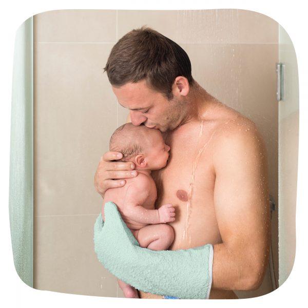 Invented 4 Kids Manopla de Baño para Bebé Antideslizante