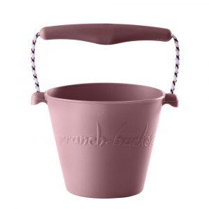 Comprar Scrunch - Cubo de Playa Plegable de Silicona Reciclada Rosa